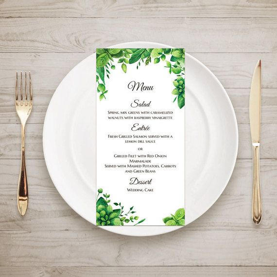 Best Wedding Menu Images On   Menu Templates Place