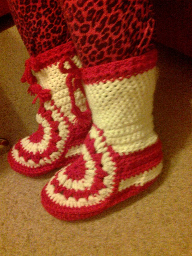 crochet shoes- háčkované boty :-)