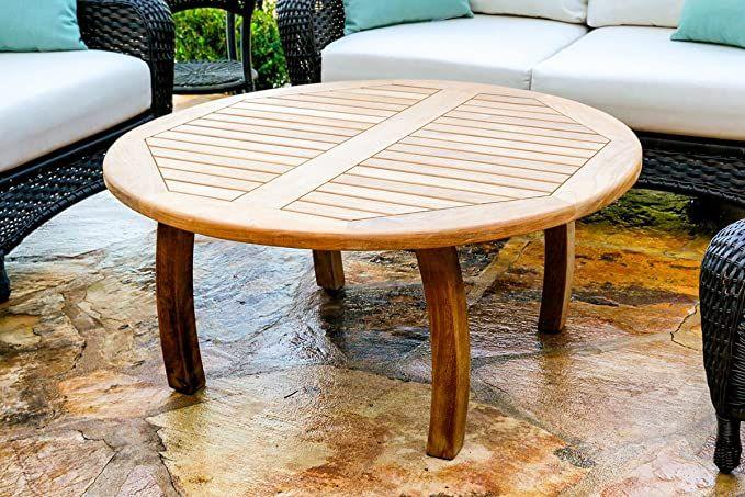 Amazon Com Tortuga Outdoor Jakarta 40 Teak Coffee Table Garden Outdoor In 2020 Teak Coffee Table Teak Outdoor Surfboard Coffee Table
