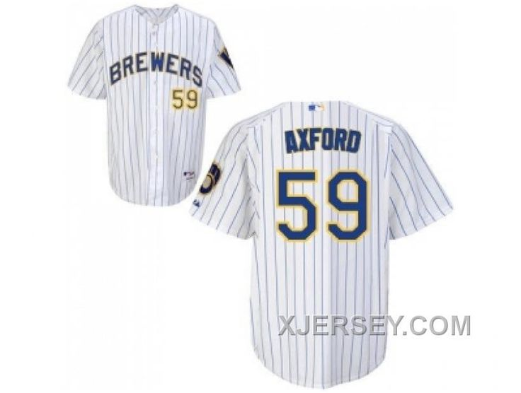 http://www.xjersey.com/mlb-milwaukee-brewers-59-axford-whiteblue-strip-discount.html MLB MILWAUKEE BREWERS #59 AXFORD WHITE(BLUE STRIP) DISCOUNT Only $34.00 , Free Shipping!