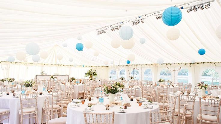 Licht blauwe en blauwe en witte lampionnen sfeervolle decoratie bruiloft idee n bruiloft - Blauwe turquoise decoratie ...