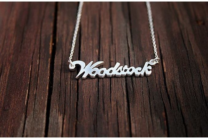"""""""Name Tag"""" Necklaces by a ring to it"""