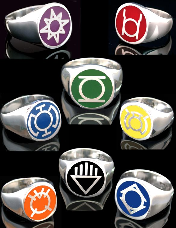 All Lantern Rings | ... of 8 different Lantern Corps Rings. I wonder what each symbol means