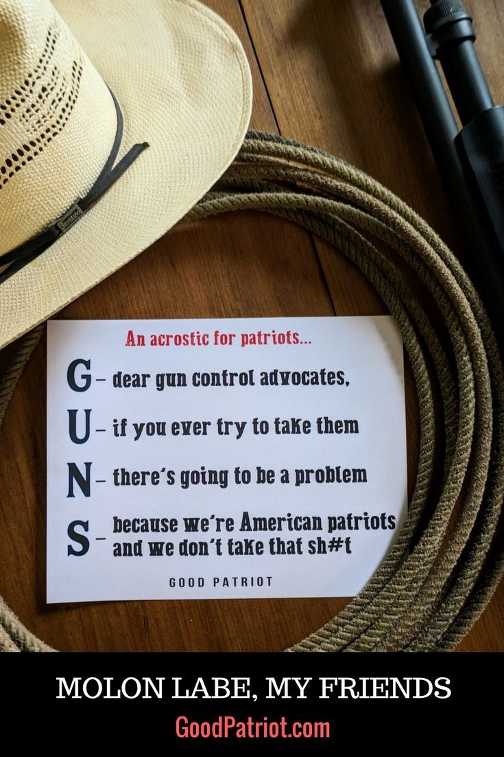 guns acrostic - loosely defined :) gun owners all across america