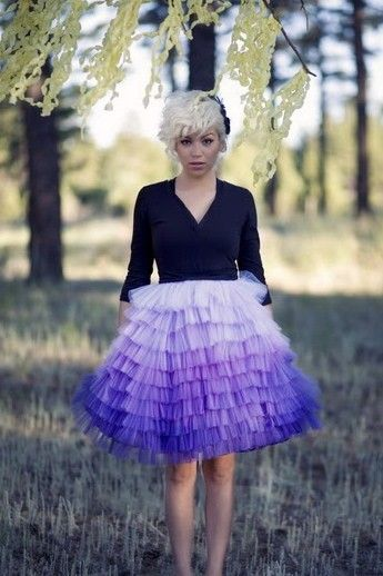 Hand Dyed Ombre skirt by ouma. $360