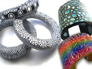 on line class -Learn to Make Polymer Bangles and Cuffs with Debbie Carlton vis craftcast