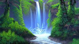 Whisper Forest Waterfall Places Paintings Grass Peaceful Plants Love Seasons Rocks Waterscapes Attractions Dreams Colors Drawings Creative Pre Stunning Splendid Nature Trees Happiness Forests Bright Landscapes Cool Beautiful Scenery Desktop Images