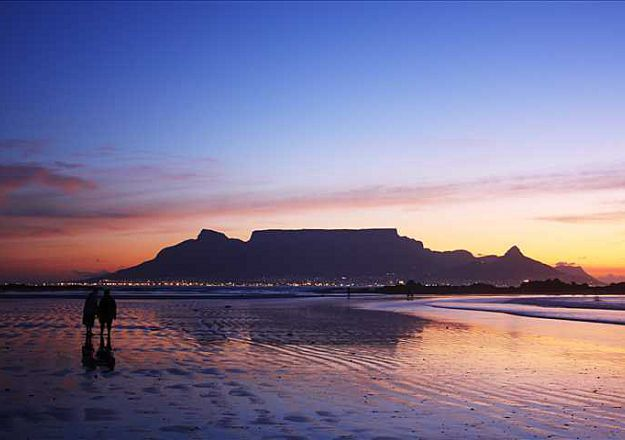 The beautiful Table Mountain from Melkbosstrand.