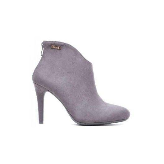 Zimná dámska členková obuv sivej farby so zipsom na zadnej strane…