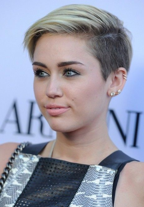 Miley Cyrus Short Haircut for 2014 - Short Edgy Hairstyle for Young Ladies