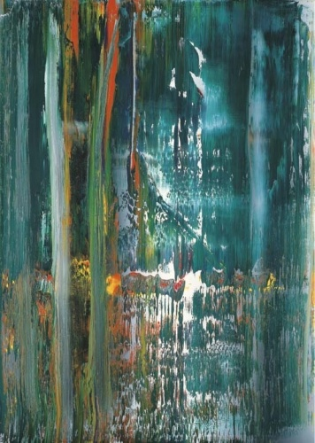 Gerhard Richter, A.B. Tower, 1987,  Catalogue Raisonné: 647-3. http://www.gerhard-richter.com/art/paintings/abstracts/detail.php?paintid=7630