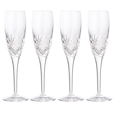 Debenhams Set of four 'Castalia' crystal champagne flutes £40