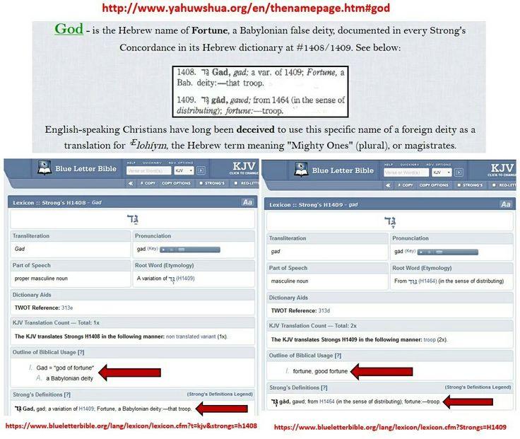 http://www.yahuwshua.org/en/thenamepage.htm#god  #god #demon #deamon #deity #gad #fortune #fortunedistributor #luck #money #providence