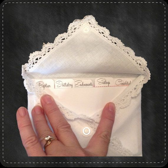 Family History Envelope LDS-Temple-Geneology by CindyRoutson