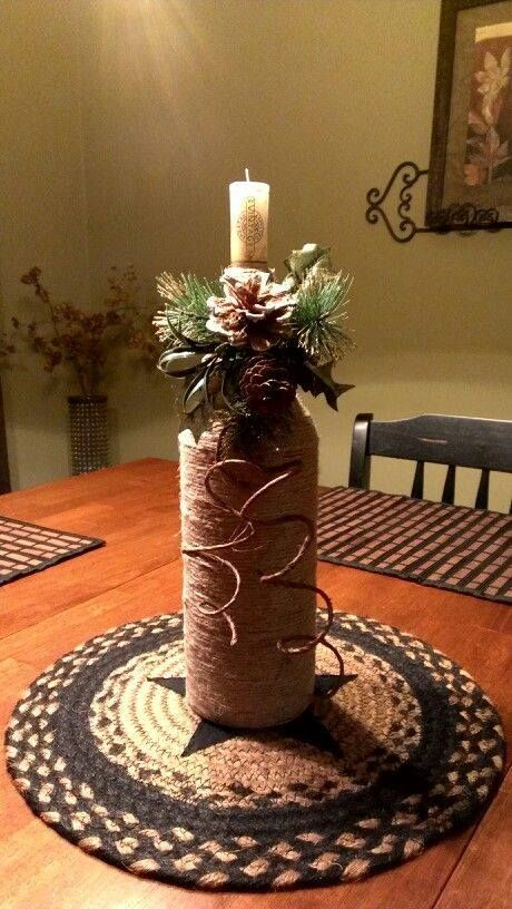 wrap a bottle with twine