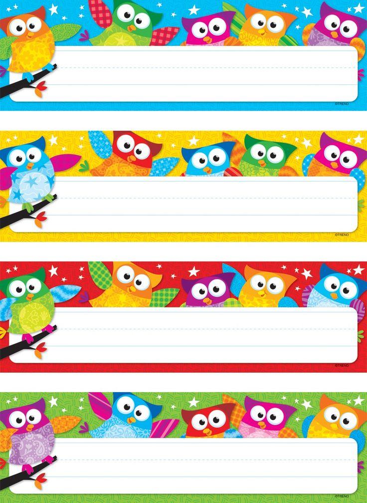 Classroom Decor Templates : Owl stars variety classroom labels templates pinterest