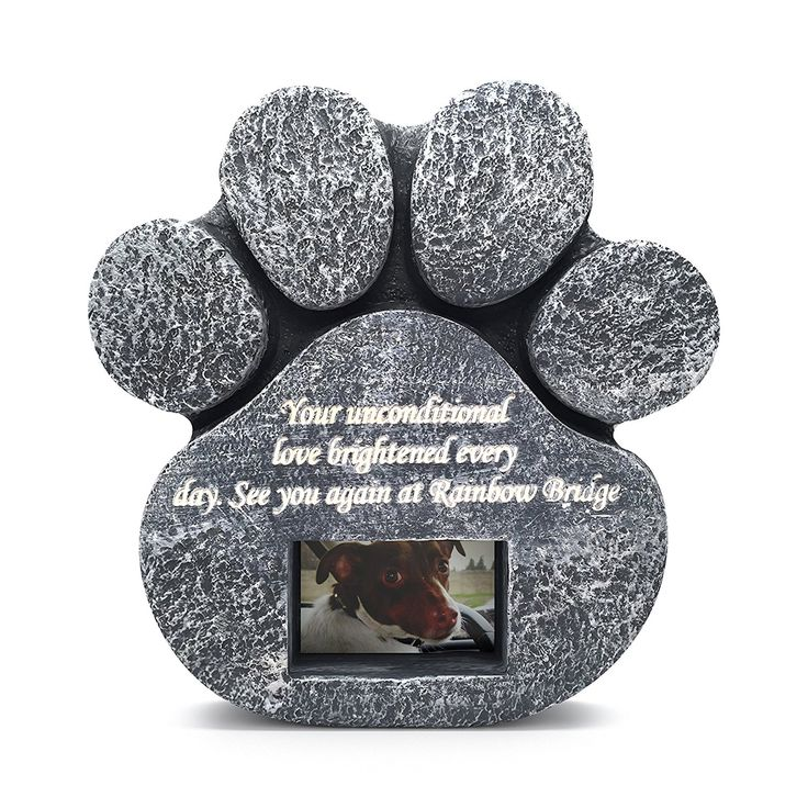 Two Jacks Paw Print Memorial Stone Pet Headstone Memorial Garden Dog Cat Customize with Photo ** Read more reviews of the product by visiting the link on the image. (This is an affiliate link and I receive a commission for the sales) #Doggies