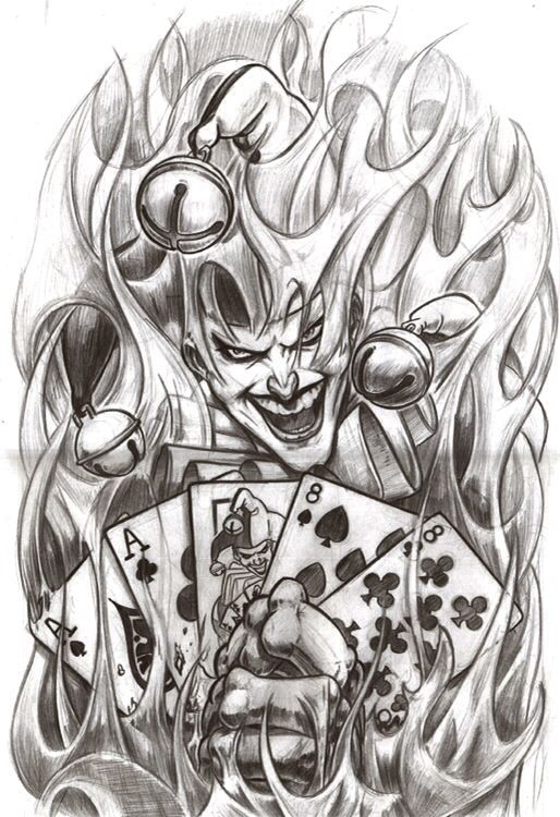 Poker table tattoos