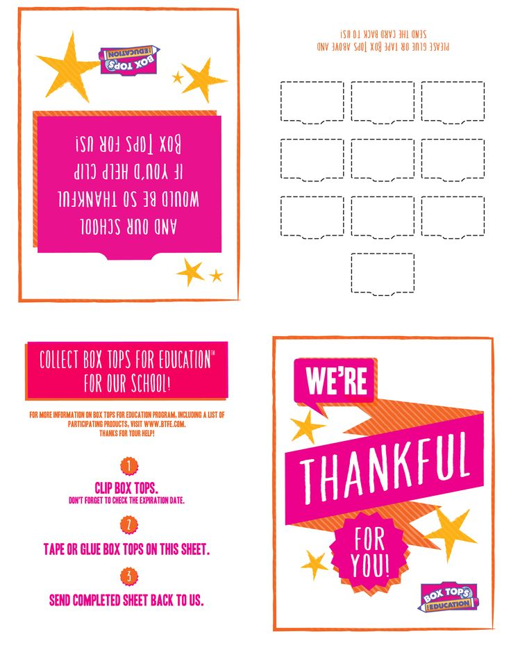 Just print it, fold it and share it! This 10-count thank-you card collection sheet is a fun and easy way to say thanks to the family and friends who clip for you -- and to ask for just a few more!
