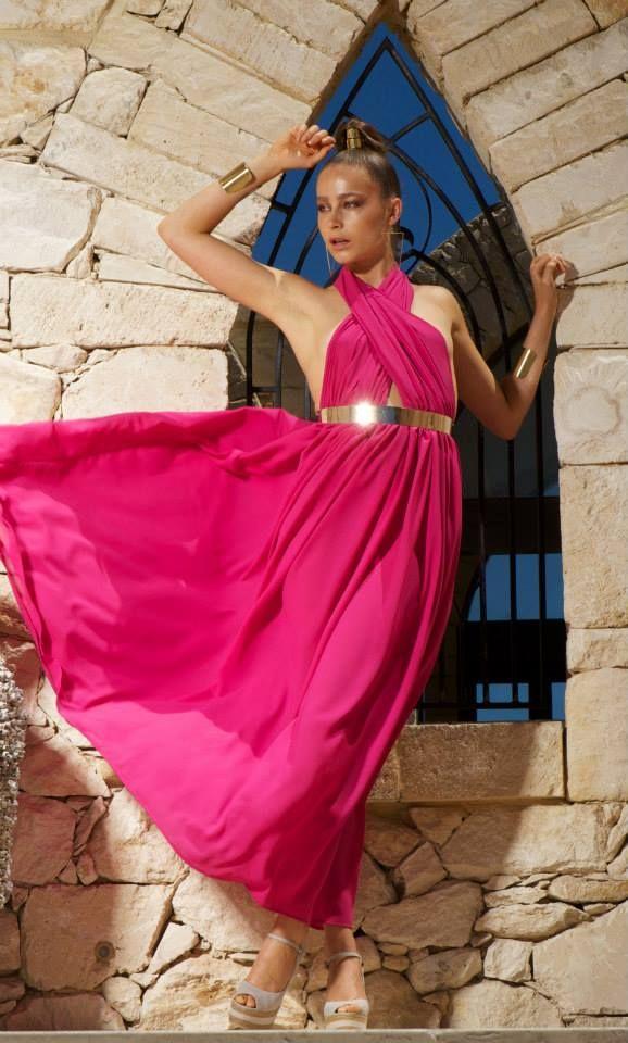 Crete dress pink