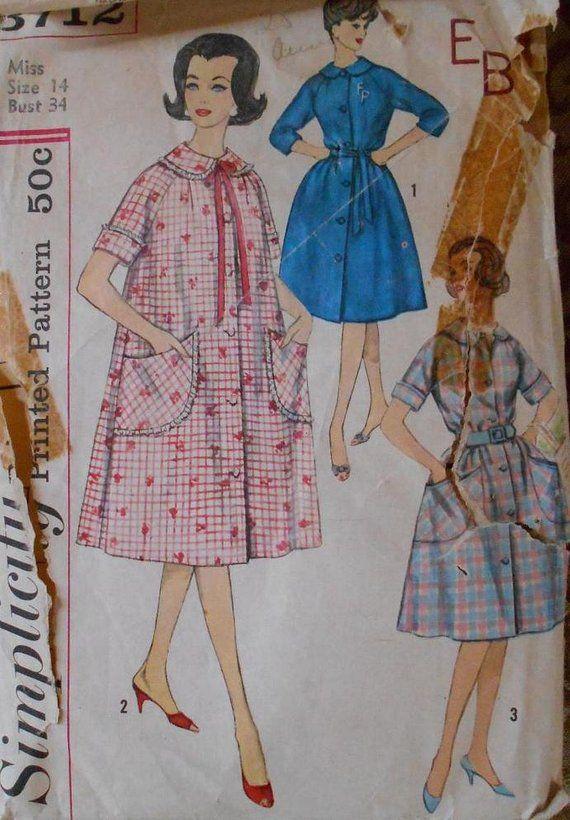 83e361eff9 Simplicity 3712 women s robe pattern