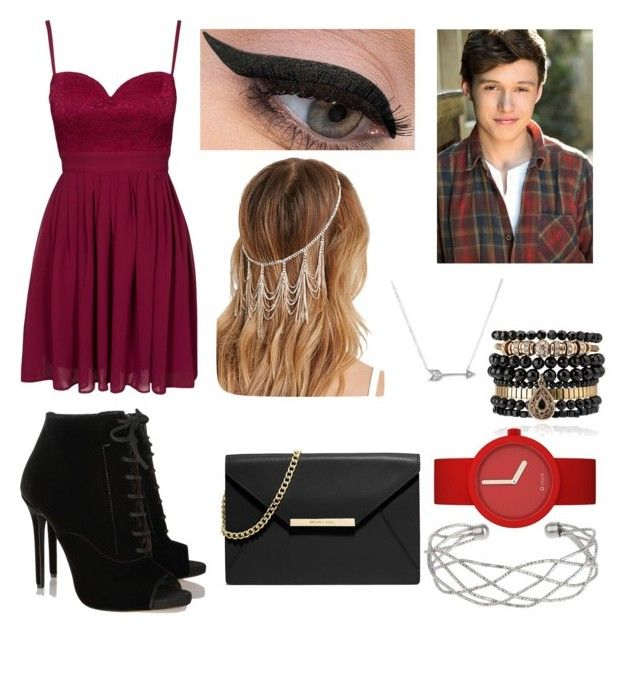 """Nick Robinson please✨"" by princess-crystin ❤ liked on Polyvore featuring Elise Ryan, Tabitha Simmons, MICHAEL Michael Kors, Forever 21, LORAC, Adina Reyter, Samantha Wills and Wallis"