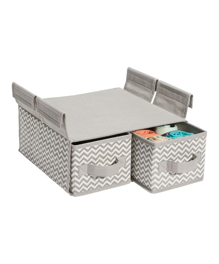 Look at this Taupe Chevron Hanging Two-Drawer Organizer on #zulily today!