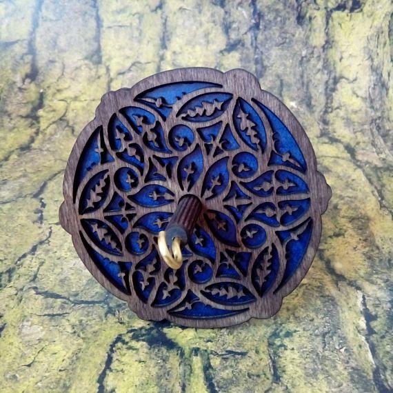 Rosette Handspindel mit durchbrochenen ornament Handspindel