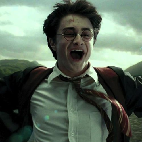 I love this scene because he'a momentarily escaping everything, Draco's constant judgement, the fickle loyalty of his classmates, the later-proven-incorrect idea that Sirius wants to kill him, everything! He just gets to enjoy himself for a moment and make his problems smaller as he soars on Buckbeak ❤️