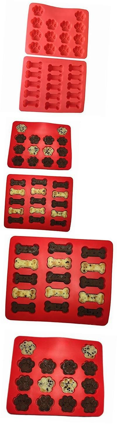 Ice Cube Trays and Molds 177015: Puppy Paws And Bones Silicone Baking Molds-Pan-Ice Trays Set Of 2 -> BUY IT NOW ONLY: $34.6 on eBay!