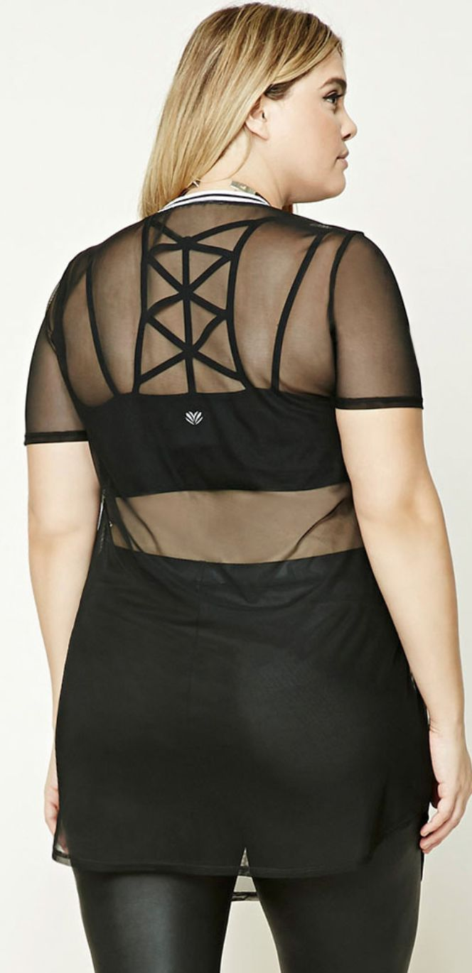 How to wear sheer tops plus size