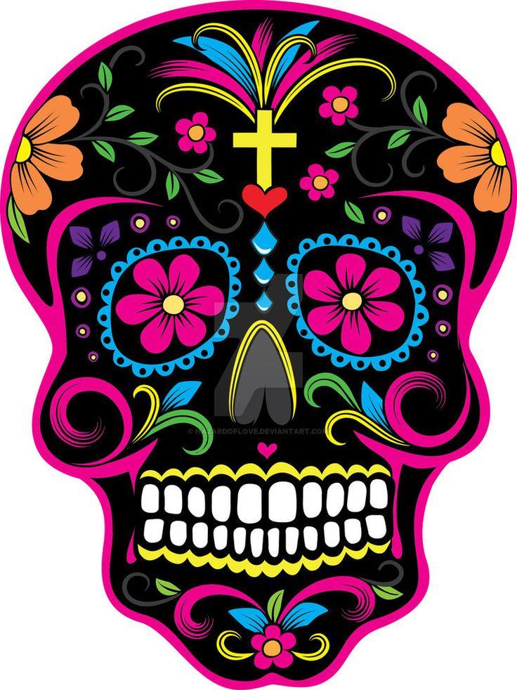 Dia de los Muertos Skull 2 by Hazardoflove