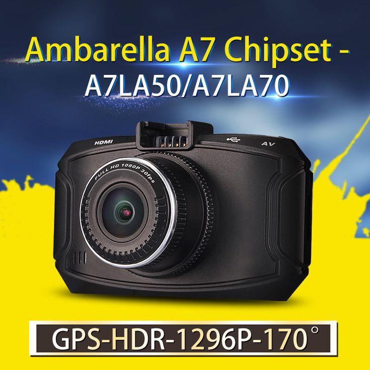 Ambarella A7 Mobil DVR GS90C/GS90A/G90 Kamera 1296 P HD DVR Mobil Perekam Dash Cam GPS Logger Night Vision OV4689 Sensor Camcorder