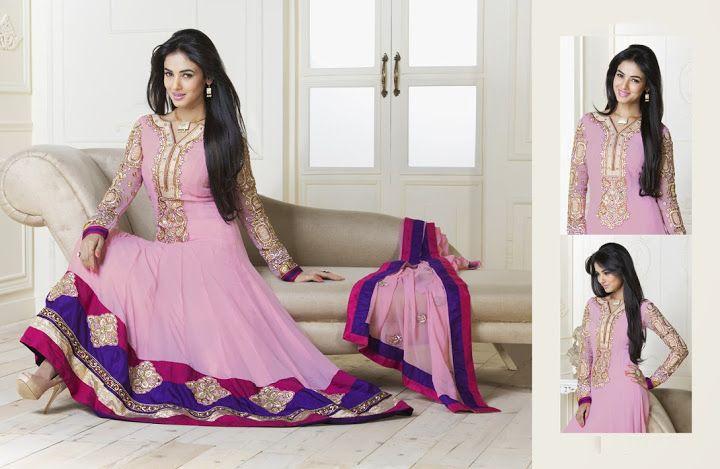 Tranquil Rose Pink Salwar Kameez   StylishKart.com
