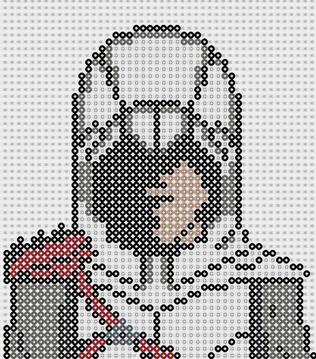 Assassin 's Creed Perler Bead Pattern by Sebastien Herpin http://www.helpmedias.com/minecraft.php