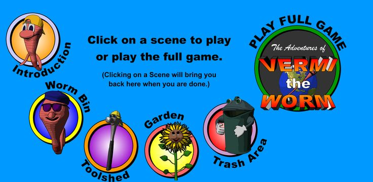 Vermi the Worm game to teach kids about composting. #EarthDay #Composting