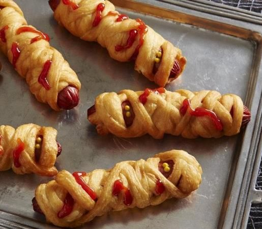 52 best walking dead food images on pinterest halloween labels deep fried crescent zombie dogs a crispy flavorful halloween treat forumfinder Images