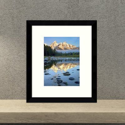 Loon Peak Grand Tetons Reflected in Water, Grand Teton National Park, Wyoming Framed Photographic Print