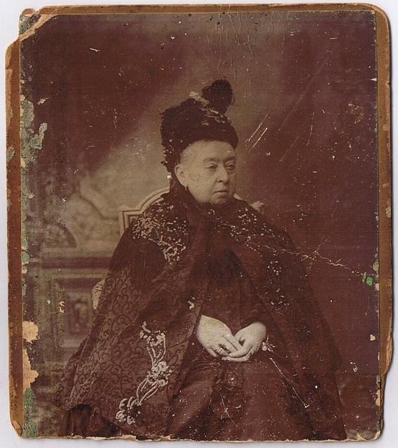 Queen Victoria in old age.  This one little lady left an abundance of children, grandchildren, as well as great grandchildren that have changed the face of history over the past two plus centuries.