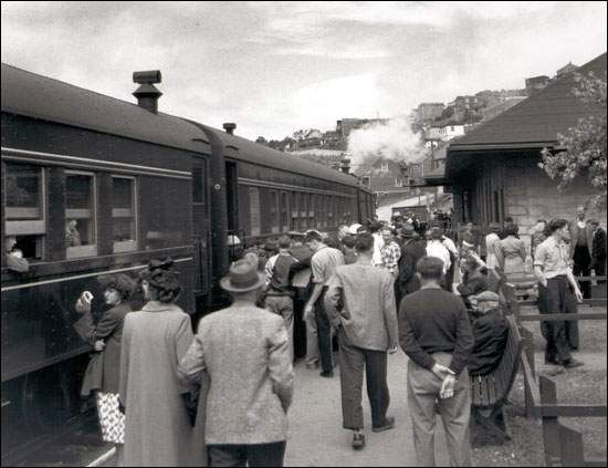 last regular passenger train, Corner Brook, Newfoundland,1969