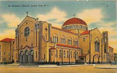 Jersey City New Jersey NJ 1940s St Aedan's Church Antique Vintage Line – Moodys Vintage Postcards