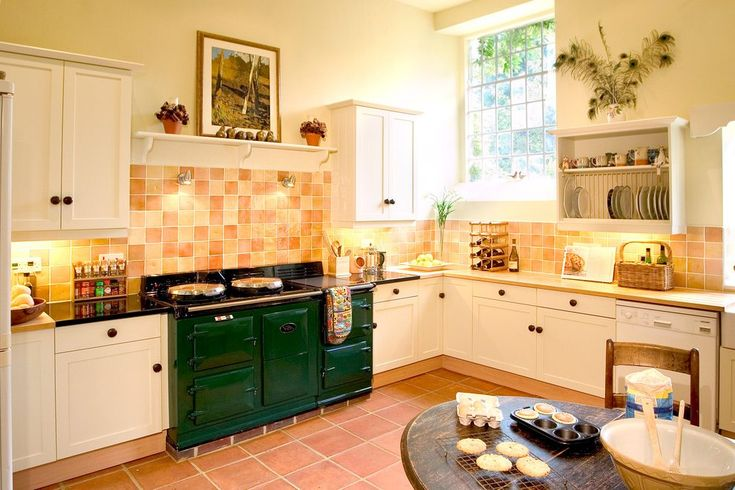 terracotta floor design kitchen farmhouse with countryside kitchen burner gas and electric ranges