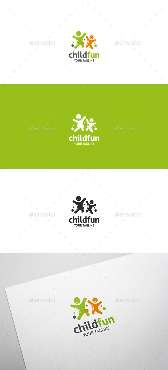 Child Fun Logo — Vector EPS #games #fun • Available here → graphicriver.ne...