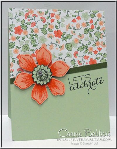 Beautiful Bunch, Gold Soiree, Stampin Up, #stampinup, CAS, Connie Babbert, www.inkspiredtreasures.com