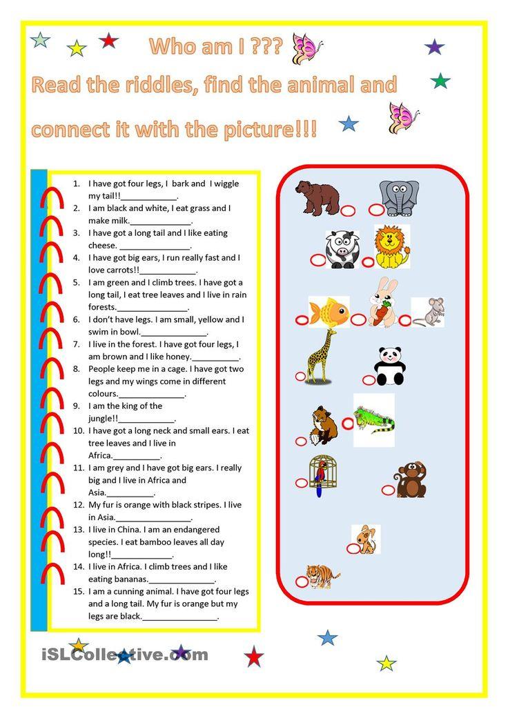 animal riddles Animal riddles, Riddles, Animals