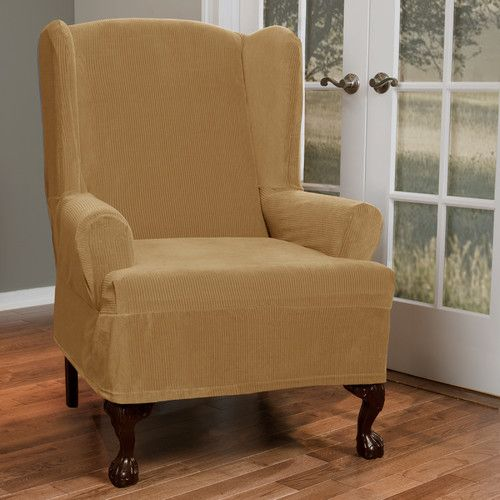 Found It At Wayfair   Collin Stretch T Cushion Wing Chair Slipcover