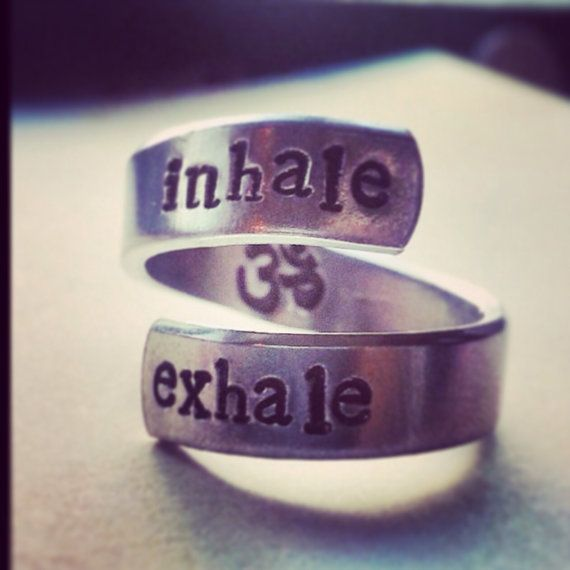 Hey, I found this really awesome Etsy listing at https://www.etsy.com/listing/197109819/inhale-exhale-ring-om-symbol-inside
