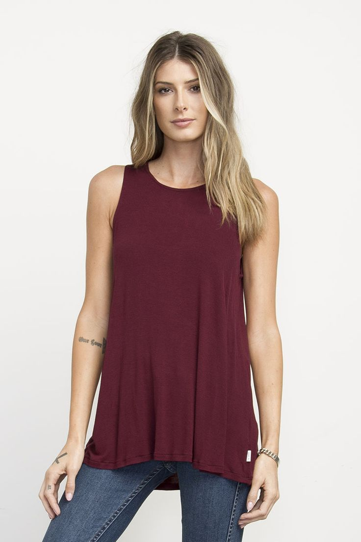 Label High Neck Tunic Tank Top | RVCA