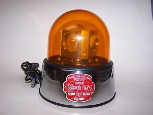Vintage Federal Signal Junior Beacon Ray Amber Dome ...