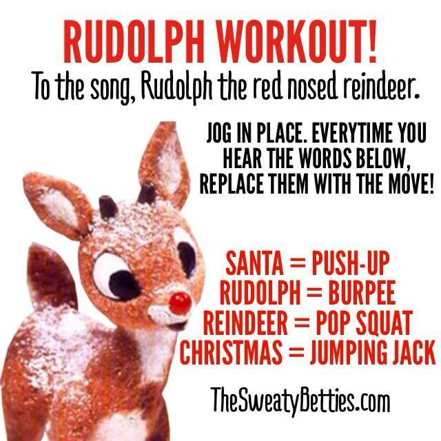 Rudolph Workout!! #gosweatyourself                                                                                                                                                                                 More